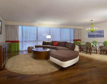 Flamingo hotel las vegas reclaimed teak flooring by for Terramai flooring
