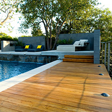 Teak decking for residence in Los Angeles