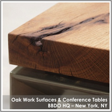 Reclaimed Oak Tables by TerraMai