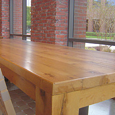 Reclaimed Oak Tables Benches inside Jamba Juice meeting area