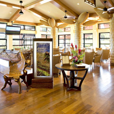 Reclaimed Wood flooring inside resort in Maui