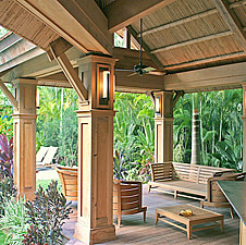 Reclaimed Teak Siding, Paneling, Beams & Columns at residence in Key West