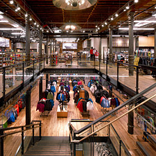 Teak Engineered flooring & paneling inside REI in New York