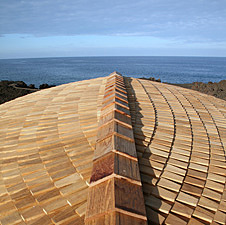 Teak shingle roofing at residence in Hawaii
