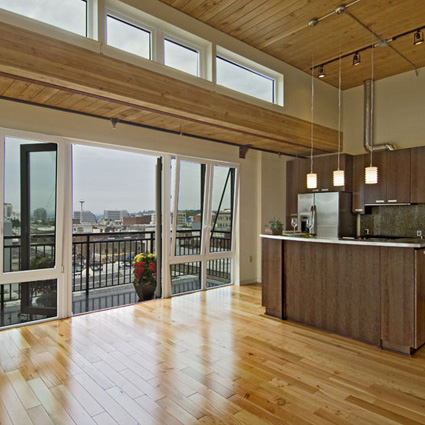 Reclaimed Doug Fir in Trace Lofts Seattle