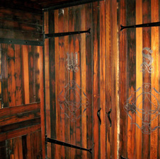 Redwood paneling in Las Vegas nightclub