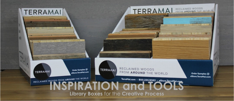Reclaimed Wood Sample Boxes And Library By TerraMai