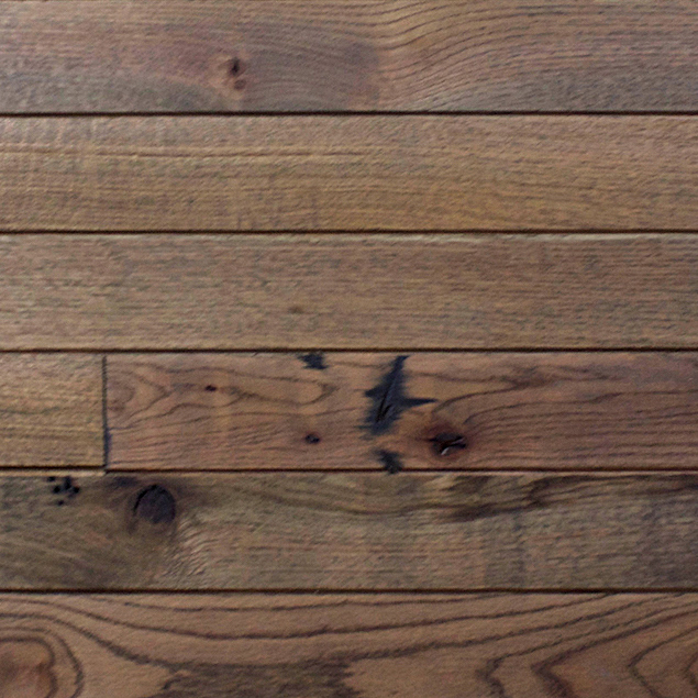 Reclaimed MISSION OAK SOLID SHIPLAP 2.0 PANELING - DARK OIL