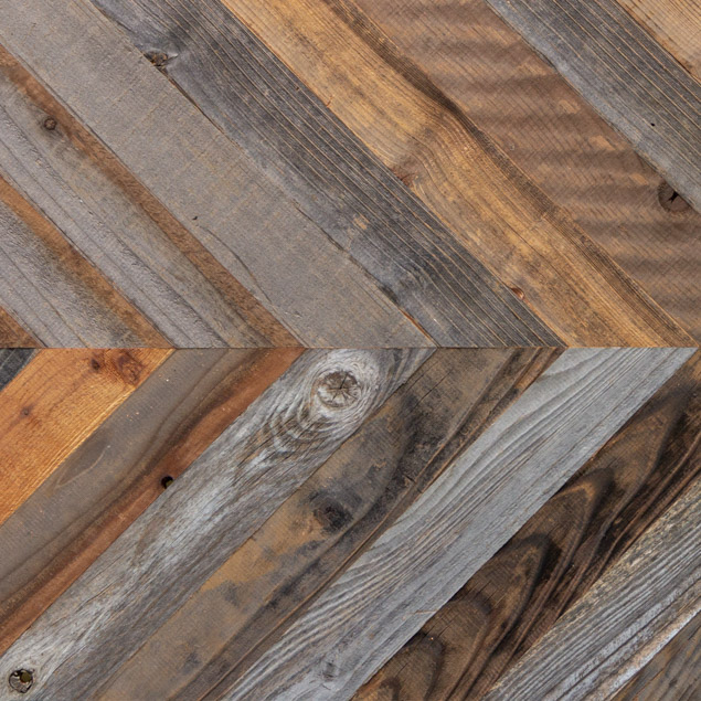 Reclaimed CHEVRON MODULAR PANELS