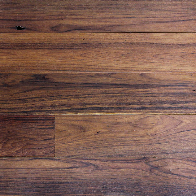 Reclaimed surfaced long plank teak flooring paneling for Terramai flooring