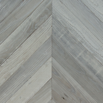 Reclaimed LOST COAST REDWOOD WEATHERED PANELING - CHEVRON - FOG
