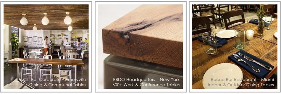 Reclaimed Wood Tabletops