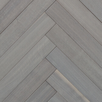 Reclaimed MC WALNUT ENGINEERED HERRINGBONE FLOORING & PANELING - OYSTER WASH