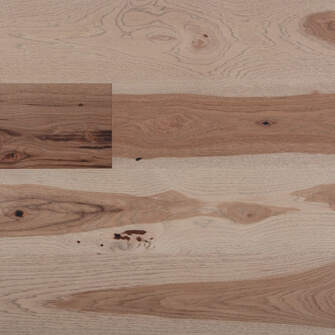 "Reclaimed WIDE PLANK HICKORY 7"" ENGINEERED FLOORING & PANELING - FAWN"