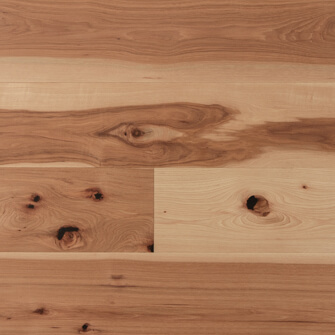 "Reclaimed WIDE PLANK HICKORY 7"" ENGINEERED FLOORING & PANELING - OIL"