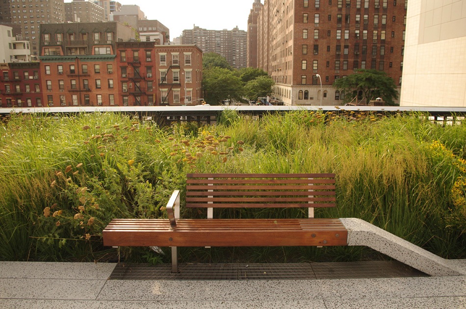 The high line reclaimed teak decking and benches by terramai for Reclaimed wood new york