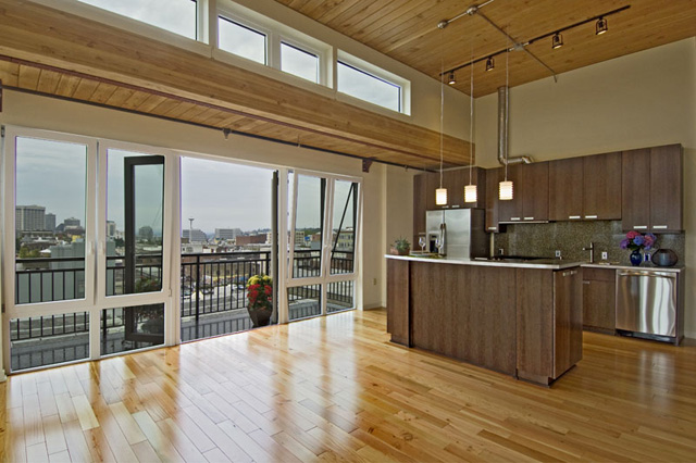 trace lofts seattle reclaimed doug fir flooring by terramai